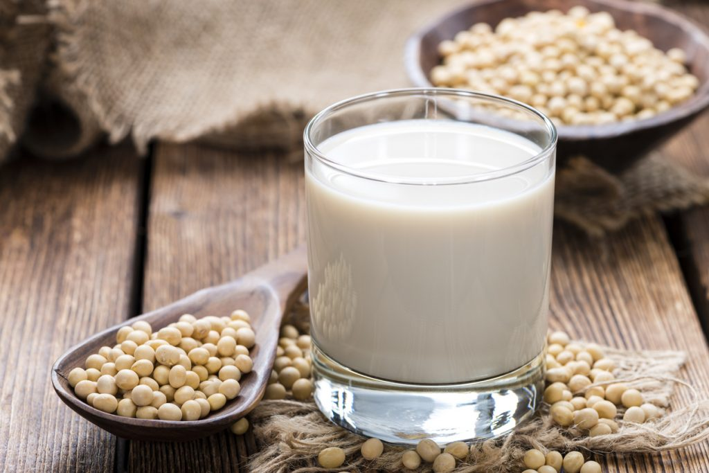 Copo de leite vegetal de soja