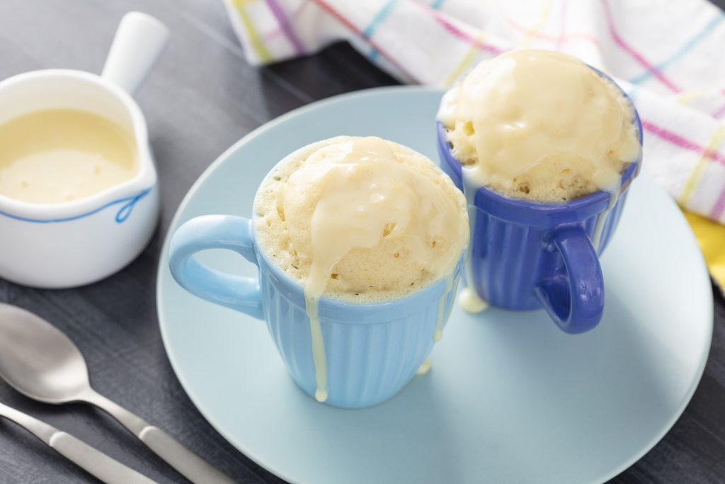 bolo de caneca leite condensado